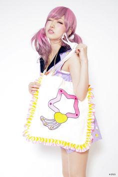 Lol I love her face! ■ Angel Creamy Mami × galaxxxy ☆ collaboration Lumina star magical tote bag today the arrival of magic ■ |!! Galaxxxy rocks!