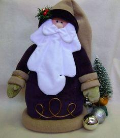 Papa Noel en paño lenci..