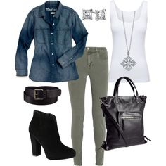 """Blue jean shirt"" by kathleenkelly07 on Polyvore"