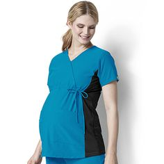 Easy Fit by Wonderwink Women's Mock Crossover Maternity Scrub Top #maternity #scrubs #nurse #doctor #hospitalstyle #medicalstyle