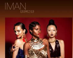 Iman Cosmetics Fall 2012 Adorned campaign featuring Rich and Rebellious King Me Necklace