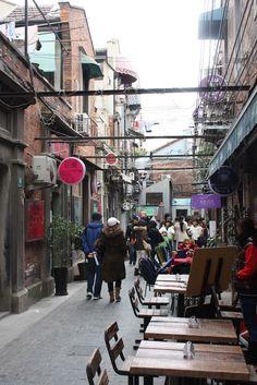 Tianzifang, Shanghai.  Shopping and Eating.  Favorite Spot = Kaiba Brunch