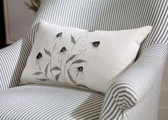 Hand-Painted White Cone Flower Pillow