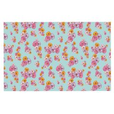 "Laura Escalante ""Paper Flower"" Decorative Door Mat"