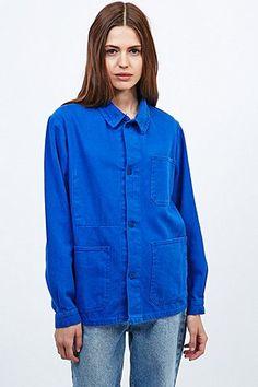 veste bleu de travail femme les vestes la mode sont populaires partout dans le monde. Black Bedroom Furniture Sets. Home Design Ideas