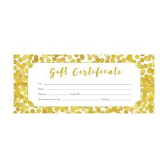 Floral Gift Certificate Download Flowers Premade Gift