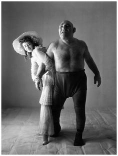 Dorian Leigh & Maurice Tillet by Irving Penn 1945