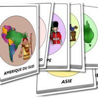 Une représentation ludique des continents !  Trouvée sur phillipmartin en anglais, je l'ai traduite et mise en page.   Télécharger : les 7 continents  ou continent par...