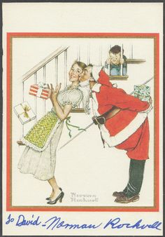 Signed Norman Rockwell illustration