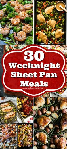 30 Weeknight Sheet Pan Meals Still need to get dinner on the table? Grab one of these amazing sheet pan dinner recipes and pop it into the oven as soon as you get home! One Pan Meals, Main Meals, Quick Meals, No Oven Meals, Cooking Recipes, Healthy Recipes, Healthy Meals, Easy Oven Recipes, Delicious Meals