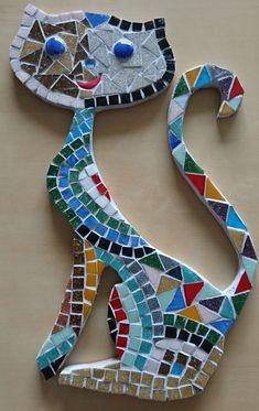 Cat Supplies Ideas - Animals and Pet Supplies Mosaic Tile Art, Mosaic Crafts, Mosaic Projects, Mosaic Glass, Mosaic Designs, Mosaic Patterns, Mosaic Animals, Cat Supplies, Mosaic Supplies