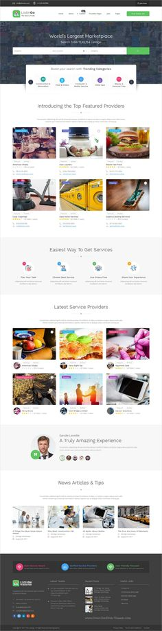 Listingo is clean and modern design responsive WordPress theme for service providers, business finder and #directory #listing website with OPT system to prevent fake bookings to live preview & download click on Visit 👆 #webdesigns