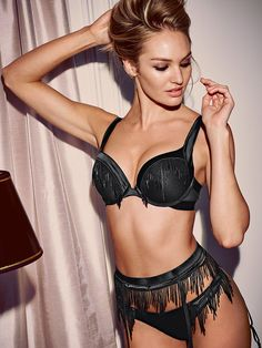 We dare you: just TRY not to shimmy/dance/jump on the bed in this bra. | Victoria's Secret Fringe Push-Up Bra