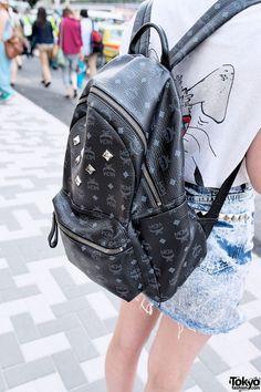 9f65ea49f4df Black MCM Backpack in Harajuku