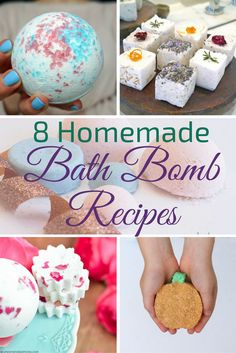 These DIY Bath Bomb Recipes help you customize your scents and colors and give you a relaxing spa experience.
