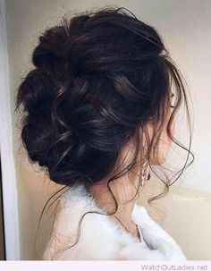 Diva hair updo and coat