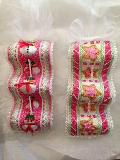 Fabulous ornaments - so unique!, needlepoint ribbon candy