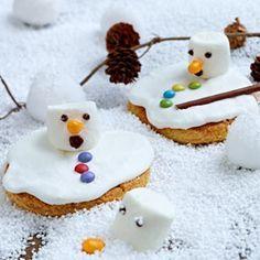 Schmelzende Schneemann-Cookies