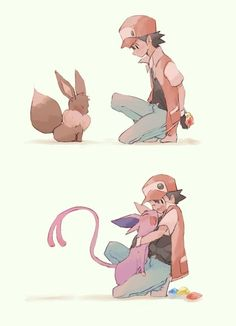 Read Red & Eevee from the story Sonic and Pokemon Picture by Mew-Victini-Pichu (Victini the Victory Pokemon) with 14 reads. pokemon, sonic, others. Pokemon Mew, Calem Pokemon, Pokemon Eeveelutions, Pokemon Comics, Pokemon Fan Art, Cool Pokemon, Pokemon Red Game, All Eevee Evolutions, Evolution Pokemon
