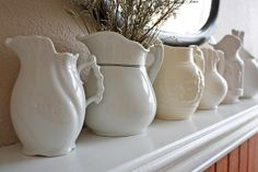 white pitchers by bailiwickdesigns, via Flickr