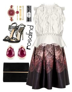 """""""rubies"""" by cnle ❤ liked on Polyvore featuring Fernando Jorge, Maison Margiela, Ted Baker, Dsquared2, Kat Von D, Zimmermann and Anne Klein"""