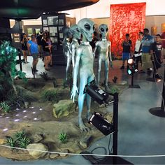 While in Roswell, most of the Alien fun is located on one central street, so make sure to walk up and down and take pictures with all the alien storefronts, and drop in to get a couple souvenirs