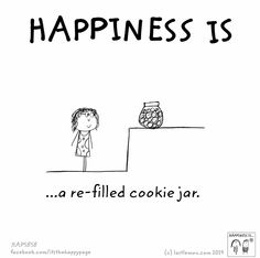 Happiness is...a refilled tummy