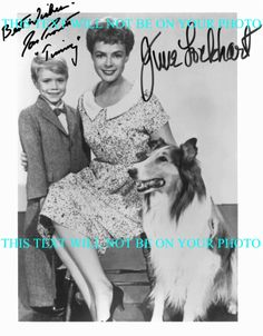 Jon Provost, June Lockhart and Lassie.