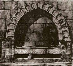 Prieuré Saint-MauriceTombeau de Robert de Montbron, lithographie de Chatenet