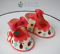 sugar babies, babi shoe, fondant babi, shoe cakes, cupcak compani, cake decor, fondant shoe, baby shoes, cake toppers