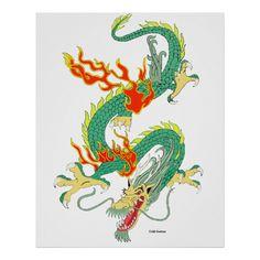 zazzle dragon chinese poster