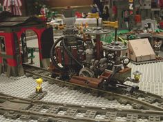 Little Lego steampunk engine
