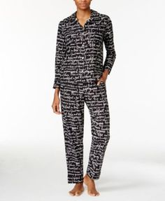 kate spade new york Printed Flannel Pajama Set