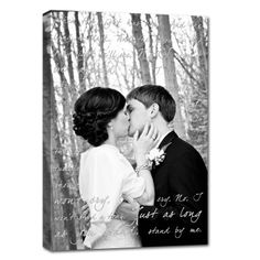 your first dance lyrics behind your wedding photo - so romantic. #Cotton #anniversary
