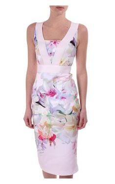 6fe9c60b62cc59 Ted Baker Womens Arienne Dress In Hanging Gardens Print Pale Pink Ted Baker  Dress Floral