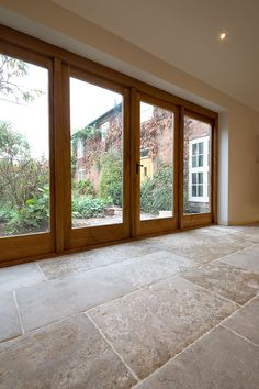 Order a free sample of Bordeaux Aged Chateau French Limestone Tiles. Limestone Flooring, Natural Stone Flooring, Brick Flooring, Kitchen Flooring, Travertine Floors, Flooring Ideas, Stone Kitchen Floor, Open Plan Kitchen Diner, Tile Stairs
