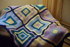 Ravelry: Project Gallery for Never Ending Blanket Square pattern by Debbie Smith