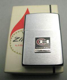 Vintage Cutler Hammer CH Control Zippo Windproof Lighter NOS NIB
