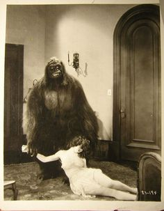 Still from The Gorilla (1927) Directed by Alfred Santell. I love the smile on the gorilla's face :0)