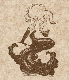 i want this as a tattoo soo bad!!! Artist: Yoshitaka Amano.
