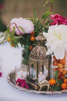Um casamento inspirado em Marrocos: centro de mesa.