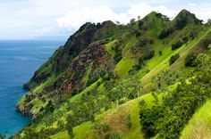 Green mountains of East Timor