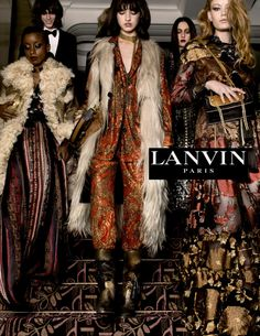 Baylee Soles, Hollie May Saker, Kelsey Soles and Zoe Bedeaux by Tim Walker for Lanvin Fall/Winter 2015-2016 Ad Campaign