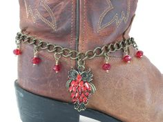 Owl Boot Bracelet on bronzed Boot Chain, Banging Boot Bracelets, Cowgirl Boot Jewelry, Boot Bling, Boot Charm, Boot Anklet, Choker Necklace by BangingBootBracelets on Etsy