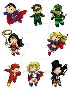 DC Heroes Chibi Set by Tamao