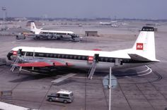A British European Airways Vickers Viscount, a medium-range turboprop airliner…