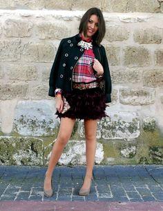 Outfit isabella y la chaqueta de piel de la colección instinto.