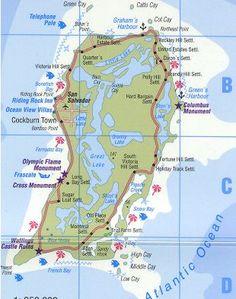 Dcollage San Salvador de Bahamas  San salvador Salvador and