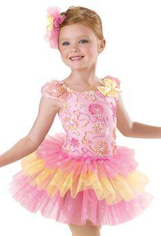 Girls' Ribbon Floral Tutu Dress; Weissman Costumes