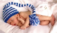 Free Pattern: Crochet Elf Stripe Pixie Hat Wouldn't this be precious on the new baby. It seems almost easy enough for me to do...
